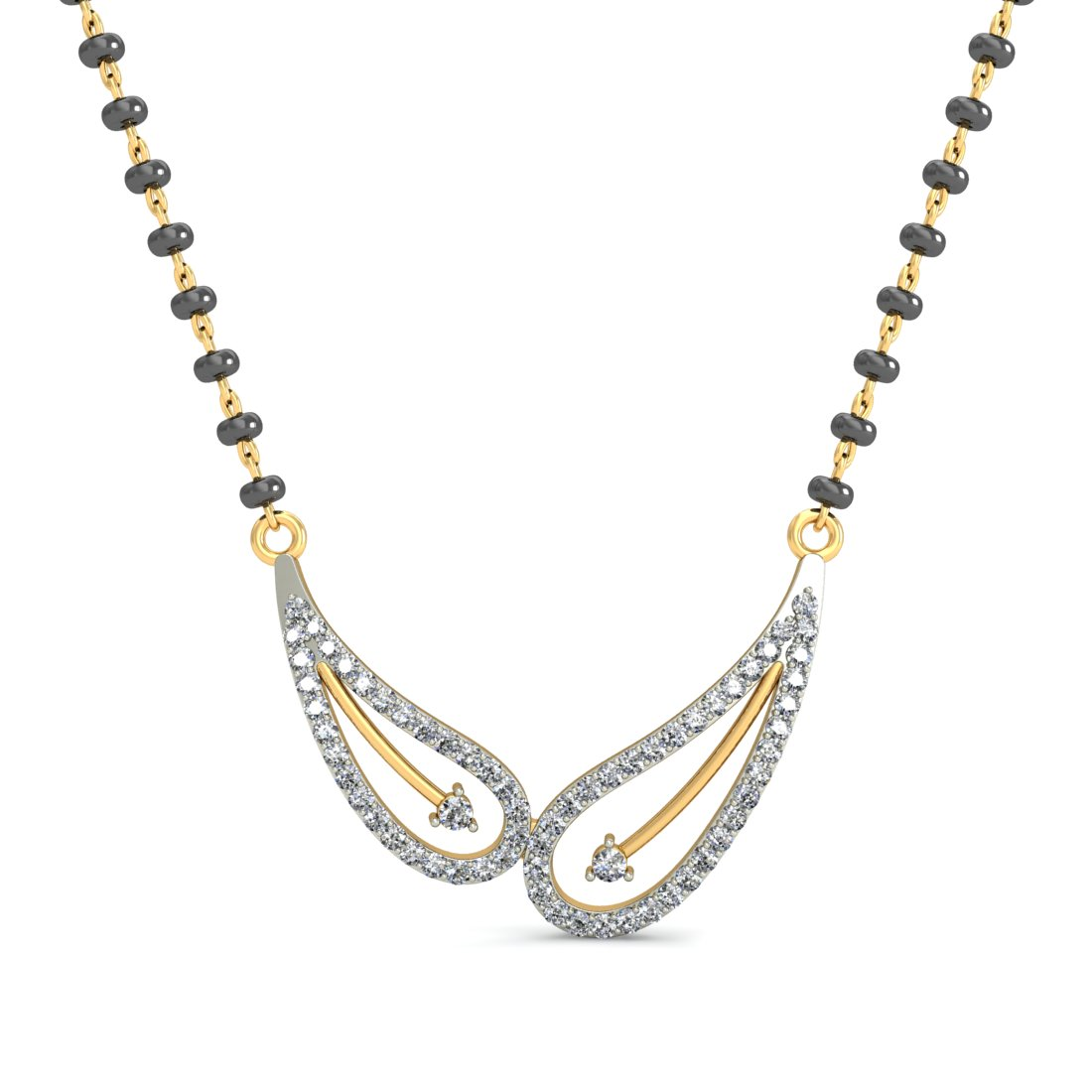 Compare Myraa JKAA007TN009  18 K Gold  Women's Mangalsutra at Compare Hatke