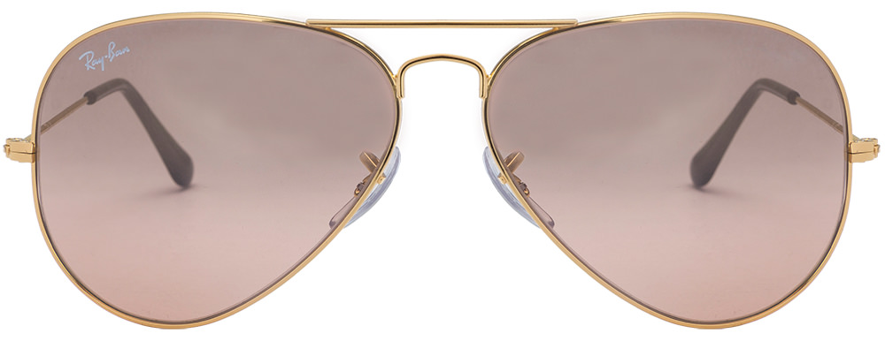 05fa605e9e344 Ray Ban RB3025 001 3E Arista Pink Gold Gradient Mirror Size 58 Sunglasses  available