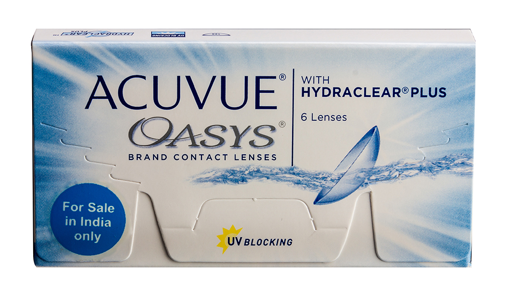 Compare Johnson & Johnson ACUVUE OASYS with HYDRACLEAR Minus (6 Lenses/box) at Compare Hatke