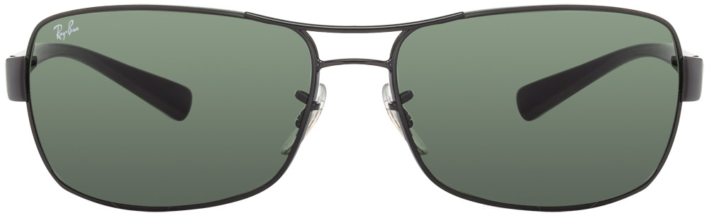 rb3379 u4jw  Ray Ban RB3379 002 Size:64 Black Green Men #039;s Sunglasses available
